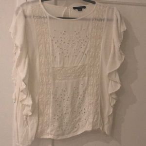 American eagle white blouse
